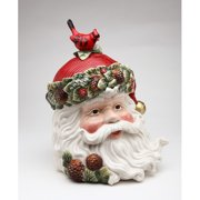 Cosmos Gifts 10 3/4-Inch Evergreen Holiday Santa Cookie Jar