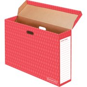 Bankers Box Red Bulletin Board Storage Box, 1 Each, White