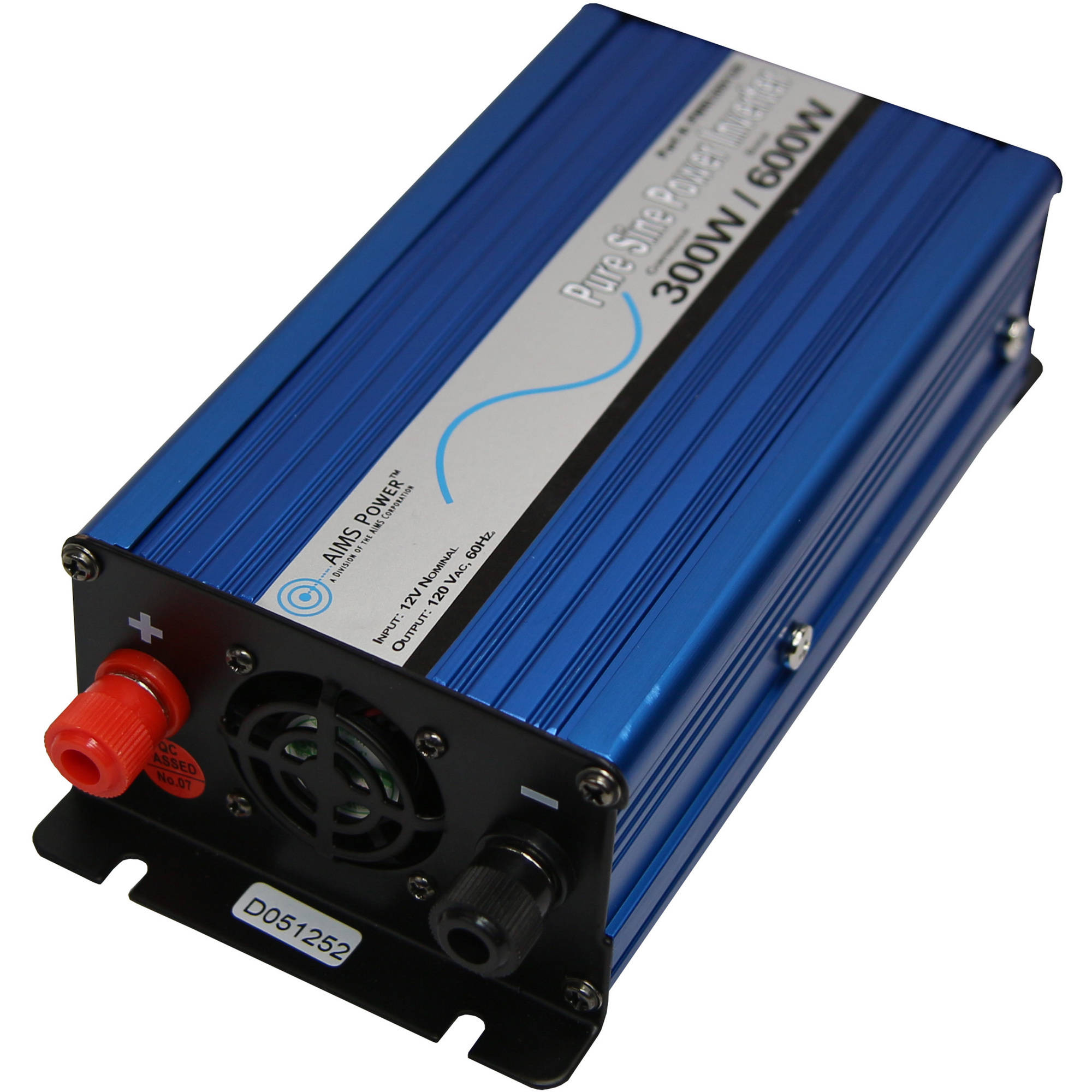 AIMS Power 300 Watt 12 Volt Pure Sine Inverter with Cables