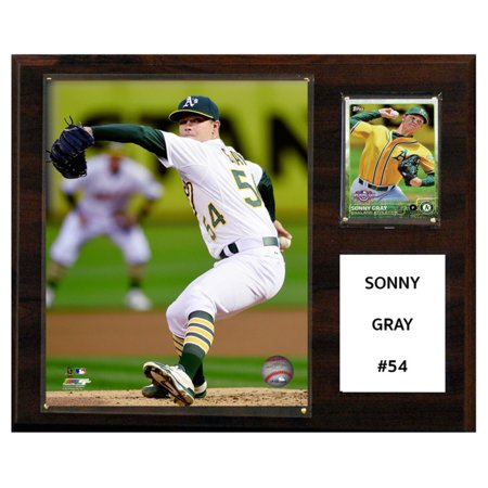 C&I Collectables MLB 12x15 Sonny Gray Oakland Athletics Player Plaque - Oakland Athletics Mlb Street Sign