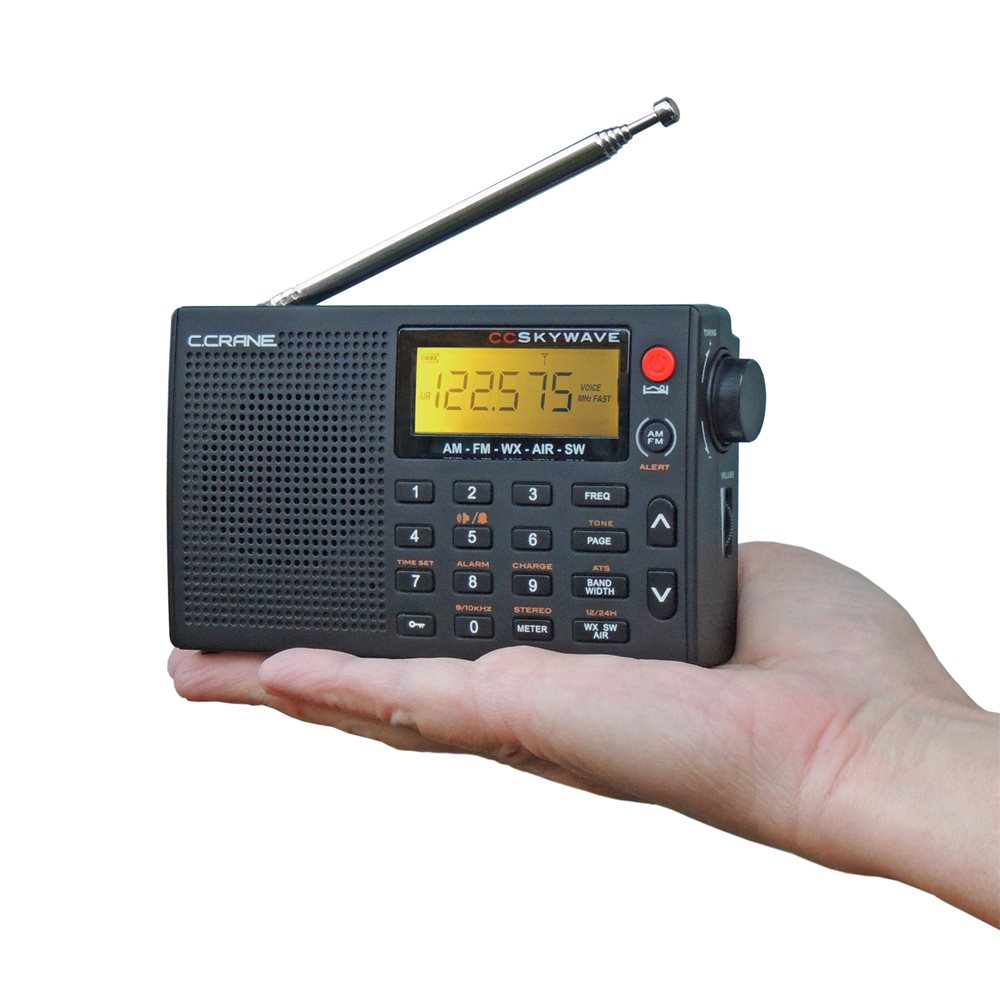 C Crane Cc Skywave Am Fm Shortwave Noaa Weather And Airband Portable Travel Radio Com