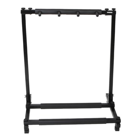 gliving folding multiple guitar stand 3 holder foldable universal display rack black guitar. Black Bedroom Furniture Sets. Home Design Ideas