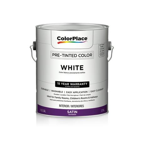 Color Place Interior Satin Paint White Walmart Com