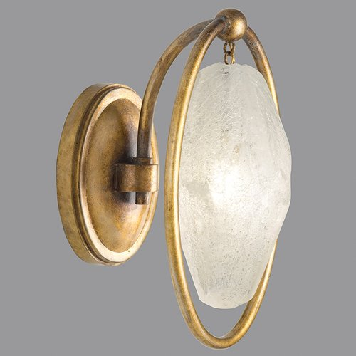 Fine Art Lamps Quartz and Iron 1-Light Wall Sconce