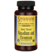 Swanson Albion Chelated Vanadium and Chromium 60 Veggie Capsules
