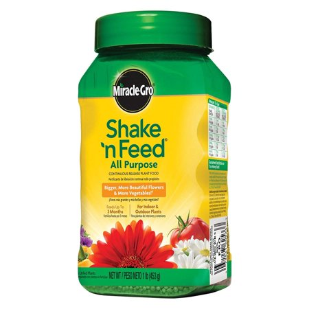 Miracle-Gro Shake 'n Feed All Purpose Continuous Release Plant Food, 1-Pound (Slow Release Plant Fertilizer), Formulated with micronutrients.., By