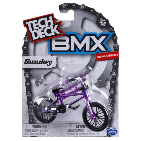Bmx Finger Bike   Sunday   Black Purple  Tech Deck Delivers Authentic Replica Bmx Bikes And Graphics From The Top Global Brands  By Tech Deck