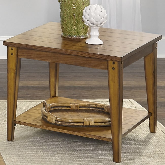 Liberty Furniture Industries Liberty Lake House Transitional Oak Lamp Table by Overstock