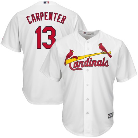 Matt Carpenter Majestic Youth Official Cool Base Player Jersey - White