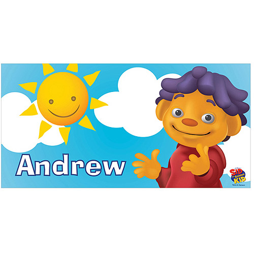 Personalized Sid the Science Kid Sunny Day Beach Towel