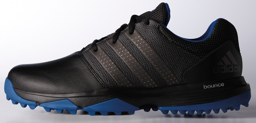 ADIDAS 360 TRAXION GOLF SHOES BLACK SILVER ROYAL #47713 -New 2017 by
