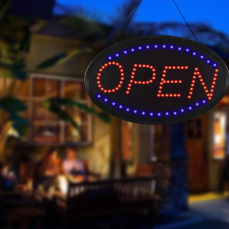 Ultra Bright Jumbo Size LED Neon Light 22.8x14.2inch Animated Motion OPEN Business Sign DIRESOP (Neon Streamers Black Light)