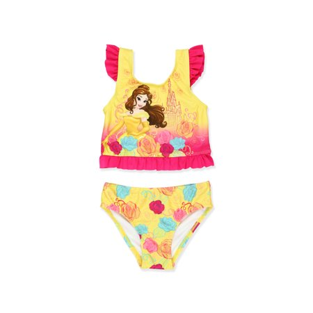 Disney Princess Belle Toddler Girls Two Piece Tankini Swimsuit 7825857PR](Disney Swimwear Girls)