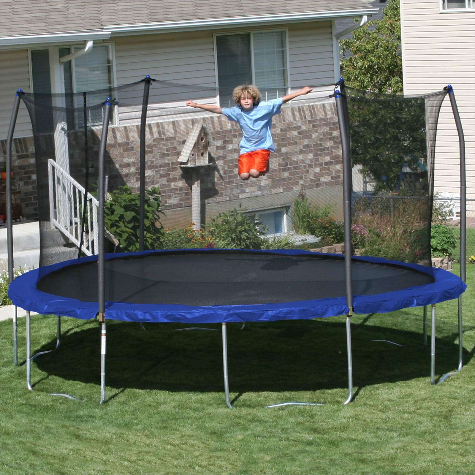 Skywalker Trampolines 15 ft. Round Trampoline with Safety...