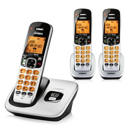 Uniden D1760-3 DECT 6.0 Cordless Phone w/ 2 Extra