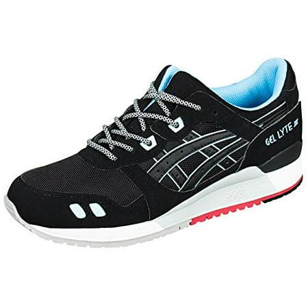 newest d2279 941dc Asics H637Y-9090: Unisex Gel Lyte III 3 Black/Blue Running Adult Sneaker  (Black/Black/Future Blue, 11 B(M) US Women)