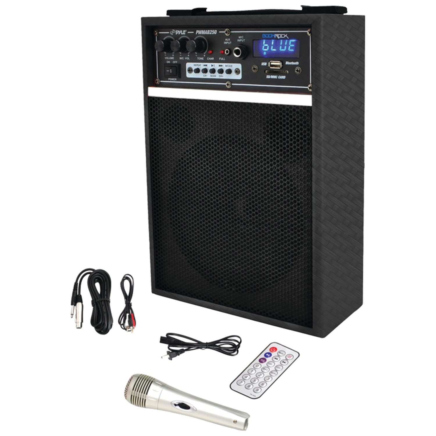 "Pyle Pro PWMAB250BK 300-Watt Bluetooth 6.5"" Portable PA Speaker System"