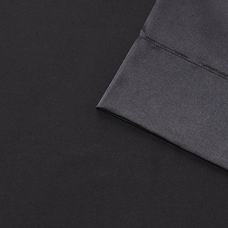 Madison Park Essentials Satin 6Piece Sheet Set Cal King Black,Cal King - image 3 of 5