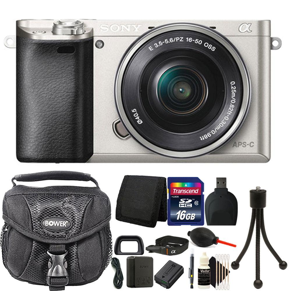 Sony Alpha A6000 Mirrorless Digital Camera + 16-50mm Lens + 16GB Premium Accessory Bundle