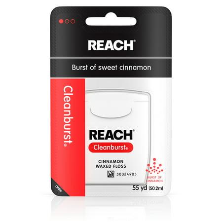 Reach Cleanburst Waxed Dental Floss, Cinnamon, Oral Care, 55 (Emergency Dental Care)