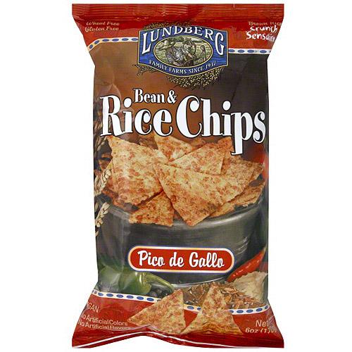 Lundberg Family Farms Bean & Rice Pico De Gallo Chips, 6 oz (Pack of 12)