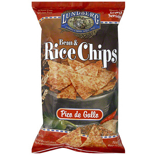 Lundberg Family Farms Bean & Rice Pico De Gallo Chips, 6 oz (Pack of 12)