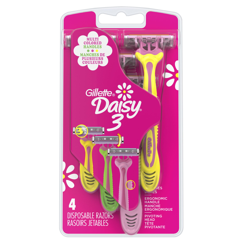 Gillette Daisy 3 Women's Disposable Razors - 4 Pack
