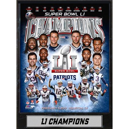 9x12 Plaque, Super Bowl 51 Champion New England Patriots