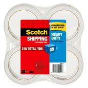"""Scotch Heavy Duty Packaging Tape, 1.88"""" x 54.6 yd, Clear, 4 Rolls"""
