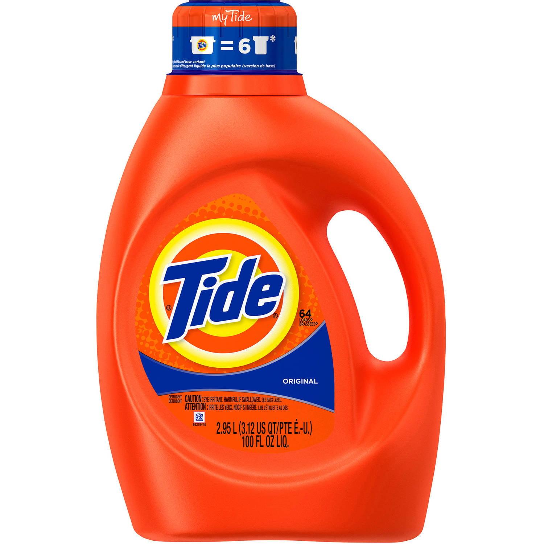 Tide Original Scent Liquid Laundry Detergent, (Choose Your Size)