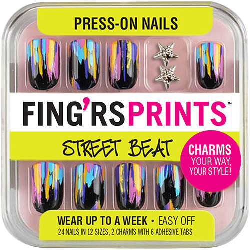 Pacific World Fingrs Prints Press-On Nails, 1 ea