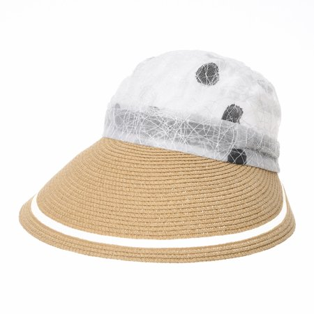 Withmoons Womens Summer Sun Visor Cap Packable Beach Hat Slh1042 Beige