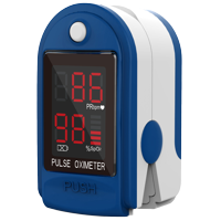 ClinicalGuard CMS-50DL Pulse Oximeter & Heart Rate Monitor, Ocean Blue
