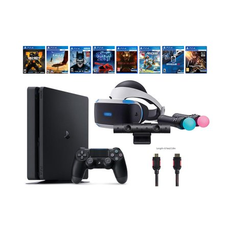 PlayStation VR Start Bundle 10 Items:VR Start Bundle PS,PS4 Call of Duty,7 VR Game Disc Until Dawn,Rush of Blood,EVE: Valkyrie, Battlezone,Batman:Arkham VR, DriveClub,Battlezone Eagle