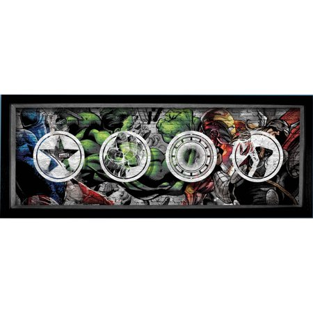 Marvel Printed Glass Marvel Retro Shadowbox Frame