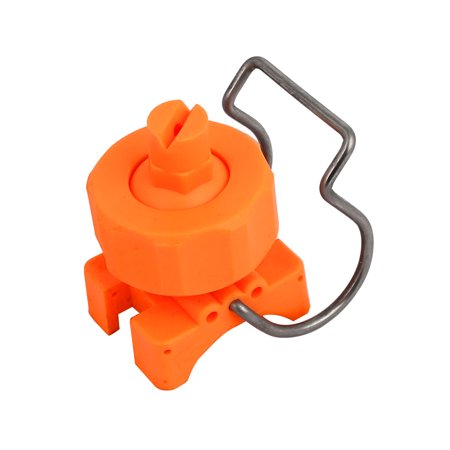 CT6515 PP Adjustable Ball Clip Flat Fan Clamp Spray Nozzle for 32-35mm Pipe Dia