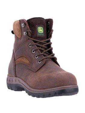 """women's john deere boots 6"""" lace up steel toe work boot 3694"""