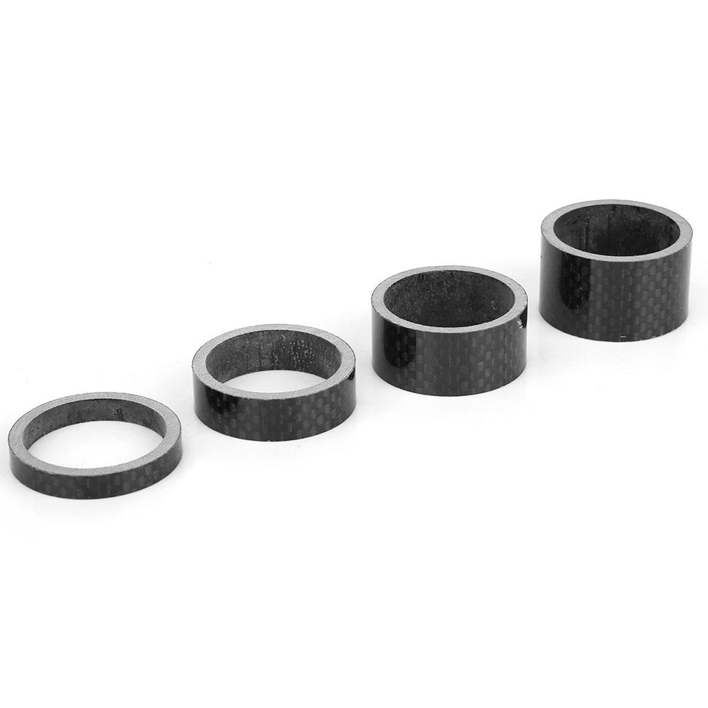 4Pcs Carbon Fiber Stem Washer Spacer Bicycle Bike Headset Fork 5//10//15//20mm DIY