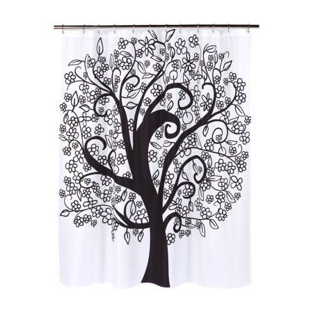 """Tree of Life"" Heavier Weight Fabric shower curtain, 100% polyester, size 70""x72"""