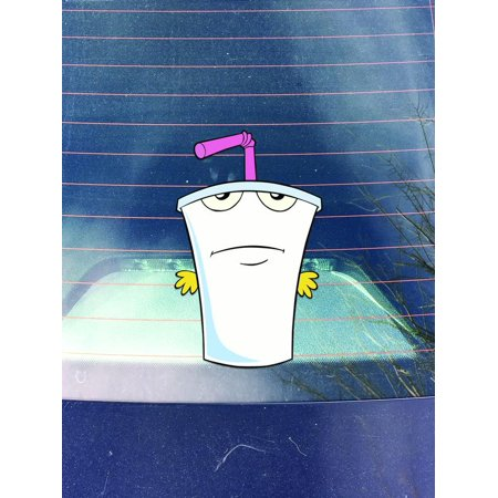 Aqua Teen Vinyl Decals Stickers ( 3 Pack!! ) | Cars Trucks Vans Walls Laptops Cups | Printed | Frylock - 5.5 Inch, Master Shake - 5.25 Inch, Meatwad - 3.75 Inch| KCD983