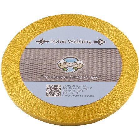 - Country Brook Design | Gold 3/8 Inch Heavy Nylon Webbing
