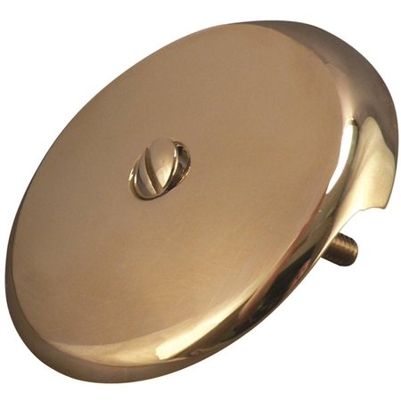 Plumb Pak PP820-10DSPB 1-Hole Trip lever Style Face Plate With Screw, For Use With Bath Drain, Polis
