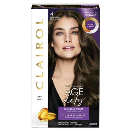 Clairol Age Defy Expert Collection Permanent Hair Color, Dark Brown, 4