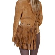 Scully Western Handbag Womens Suede Layered Fringe Magnetic Tan B143