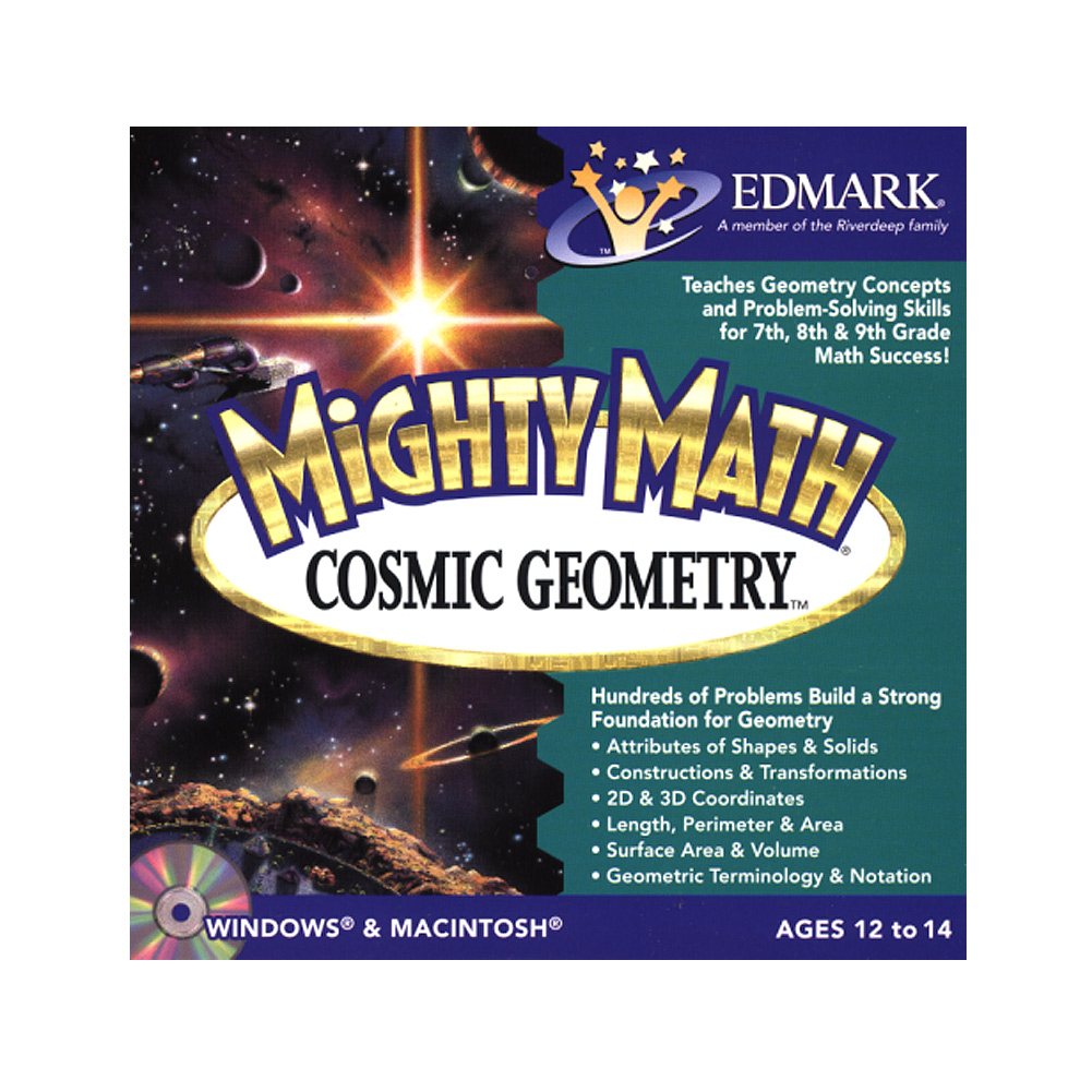 Mighty Math Cosmic Geometry School Edition - Mac, Win box pack - 2 users - CD - English