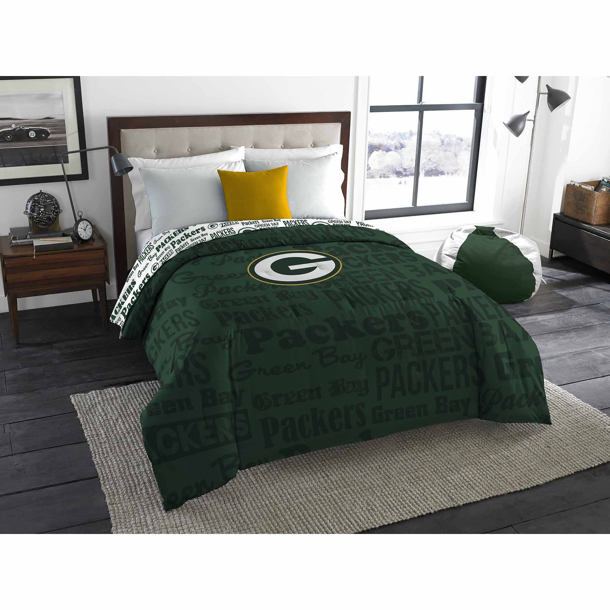 NFL Green Bay Packers Twin/Full Bedding Comforter   Walmart.com