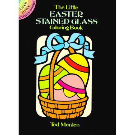 The Little Easter Stained Glass Coloring Book - Easter Bunny Coloring Page