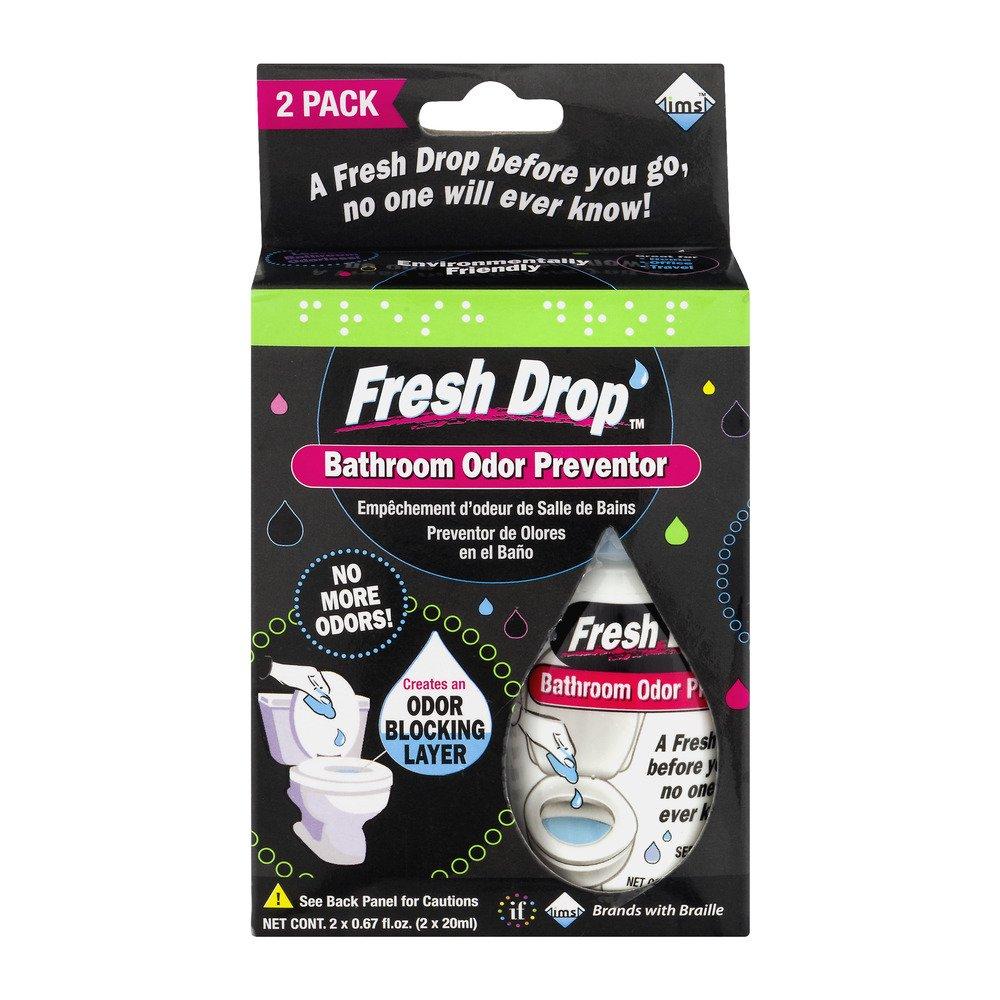 Fresh Drop Bathroom Odor Preventor   2 PK, 0.67 FL OZ