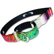 Strapworks QRMC-PL1-L 1 W inch Premier Line Quick Release Martingale Dog Collar - Large
