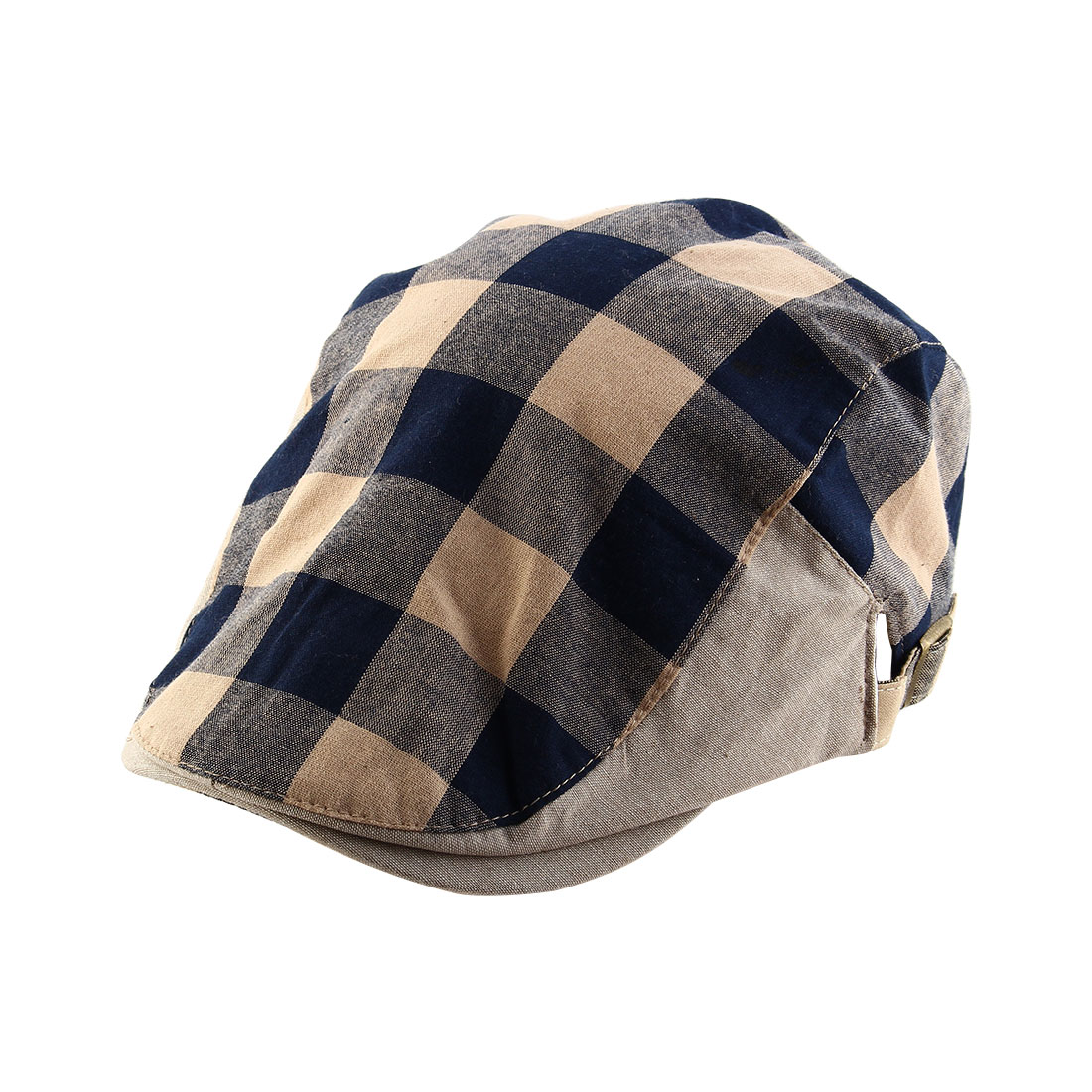 Men Women Plaid Pattern Summer Newsboy Ivy Cap Driving Flat ... f9b9e56fd14